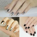Smooth Nail Art Beauty Sticker Patch Foils Armour Wraps Decoration Decal Black Silver Gold Colors DIY