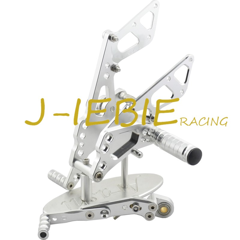 CNC Racing Rearset Adjustable Rear Sets Foot pegs For Suzuki GSXR 600 750 GSXR600 GSXR750 2011 2012 2013 2014 2015 2016 SILVER adjustable rider rear sets rearset footrest foot rest pegs gold for suzuki gsxr600 gsxr750 gsxr 600 750 2011 2012 2013 2014 2015