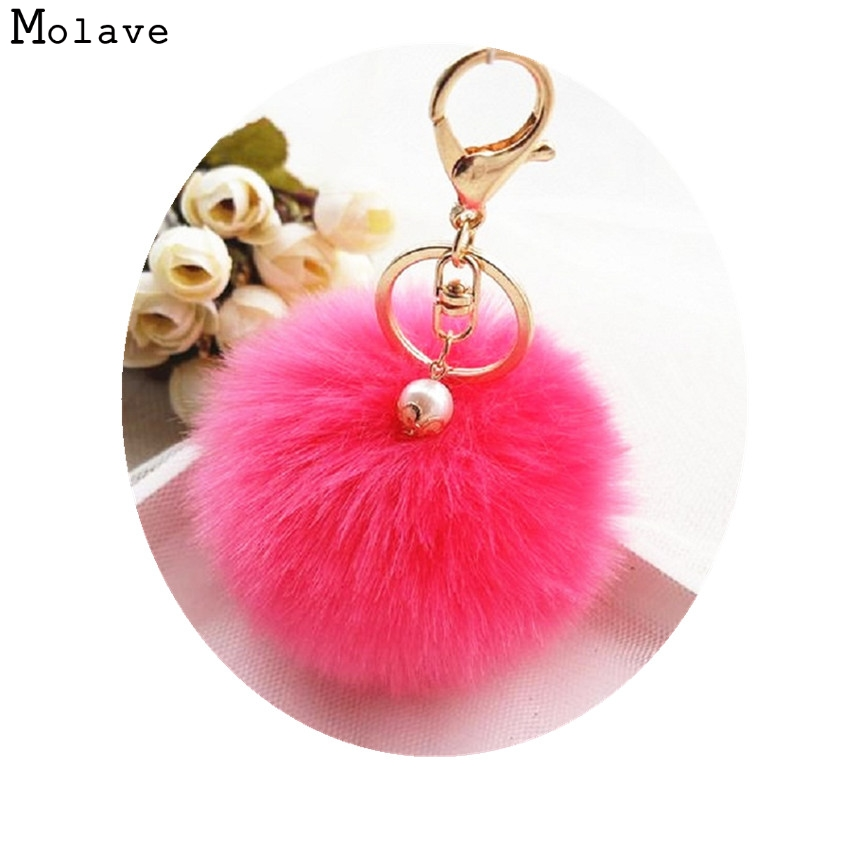 Naivety New 1PC Cute Faux Rabbit Fur Plush Ball Lovely Mini Pendant Accessory For Bag CS61108 drop shipping