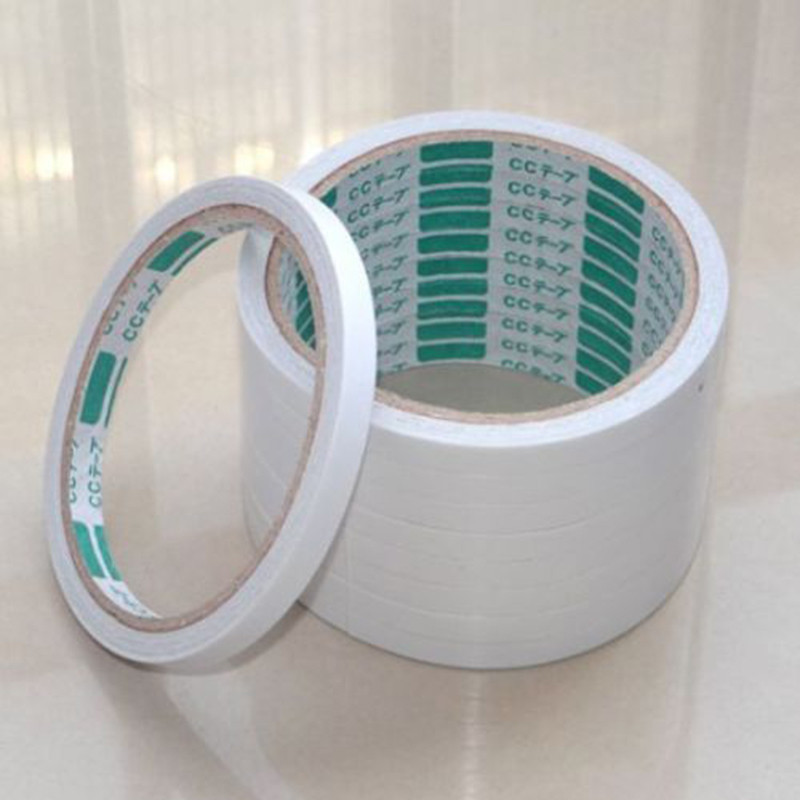 New White 8mm 5 Rolls/1Pack Of Double Sided Super Strong Adhesive Tape