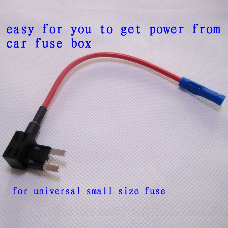 free shipping fuse holder for safe and easy refitting car fuse cable adapter fuse tap get get power from fuse box car power seat switch \u2022 wiring diagrams how to tap into fuse box for power at gsmx.co