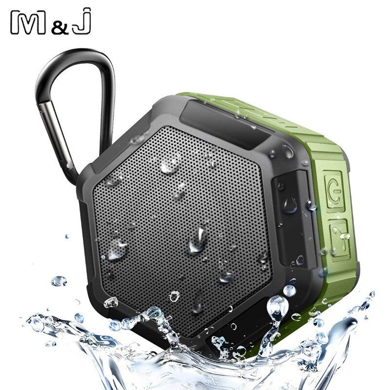 M & J Mini Portátil Esportes Ao Ar Livre IP67 À Prova D' Água Sem Fio Bluetooth Speaker Duche Speaker Bicicleta Para O Telefone a Brincar Na Água