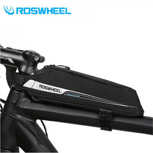 цена на ROSWHEEL 2017 Ultralight Bicycle Top Tube Bag Bike Front Beam Bag Organizer Bag Riding Cycling Storage Bags 0.4L