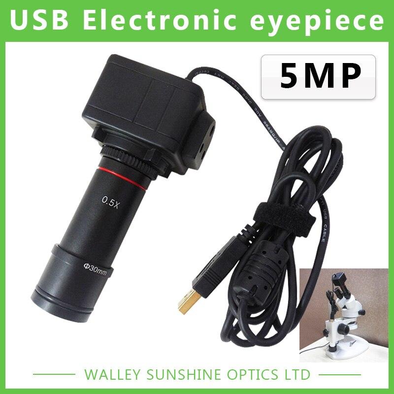 5MP Binoculaire Stéréo Microscope Électronique Oculaire USB Vidéo CMOS Caméra Industrielle Oculaire Caméra pour la Capture D'image