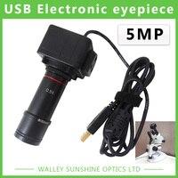 5MP Binoküler Stereo Mikroskop Elektronik Mercek USB Video CMOS Kamera Endüstriyel Vizör Kamera Görüntü Yakalama