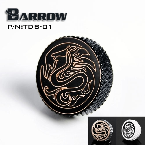 "Barrow White Black Silver G1 / 4 "" Special Edition Black Hand tighten water stop Water cooling fitting TDS-01"