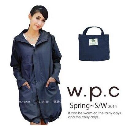 Плащ на молнии для женщин и мужчин chubasqueros Impermeables Mujer, дождевик пончо куртка capa de chuva - Цвет: Тёмно-синий
