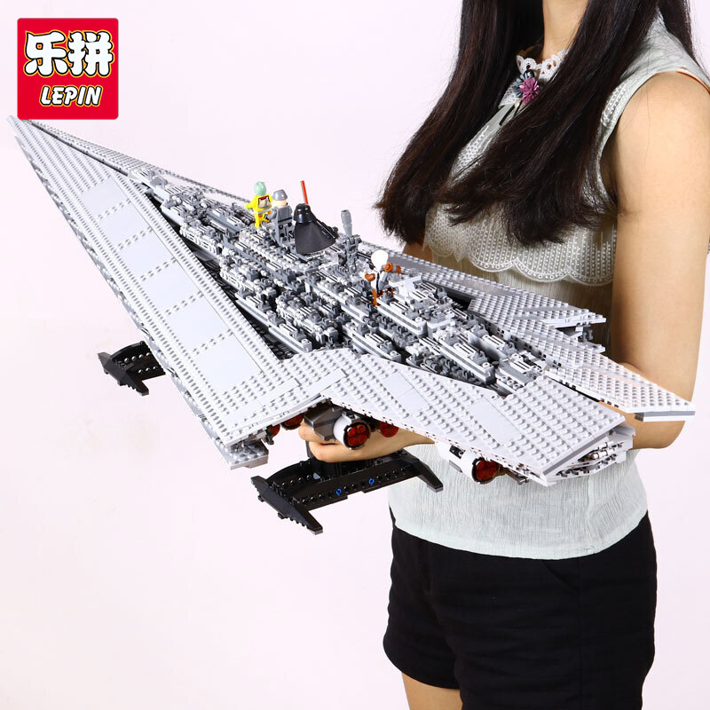 Lepin 05028 3208pcs Genuine Building Blocks Toy Super Star Destroyer Model Block Brick Compatible with lego 10221 Gifts 05028 star wars execytor super star destroyer model building kit mini block brick toy gift compatible 75055 tos lepin