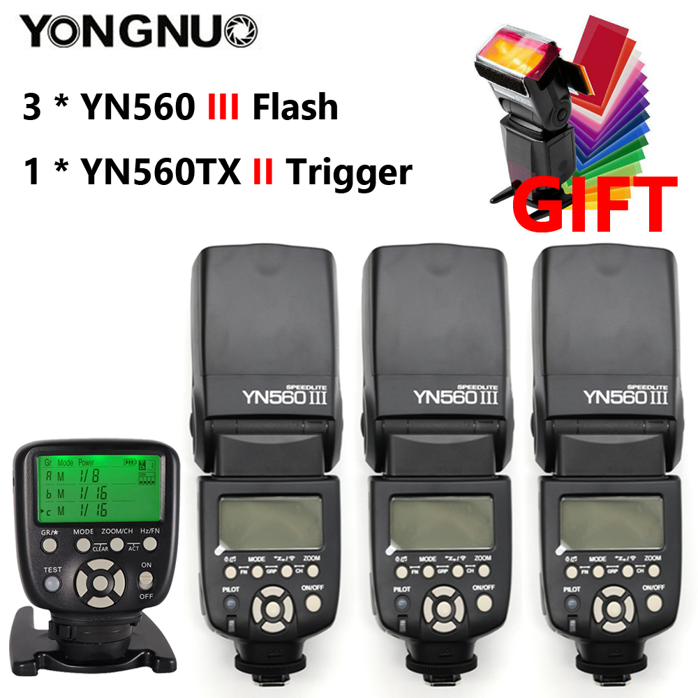 YONGNUO YN560III YN560-III YN560 III Wireless Flash Speedlite Speedlight For Canon Nikon Olympus Pentax Fuji Sony DSLR Camera