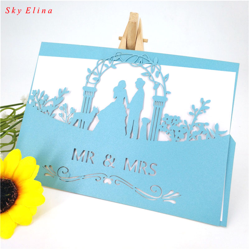 10pcs 12x18cm mr mrs wedding invitations card wedding