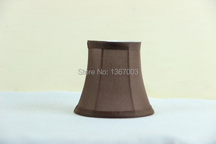 Chocolate brown fabric wall lamp shades covers modern chandelier chocolate brown fabric wall lamp shades covers modern chandelier mini lamp shade clip on in lamp covers shades from lights lighting on aliexpress aloadofball Gallery