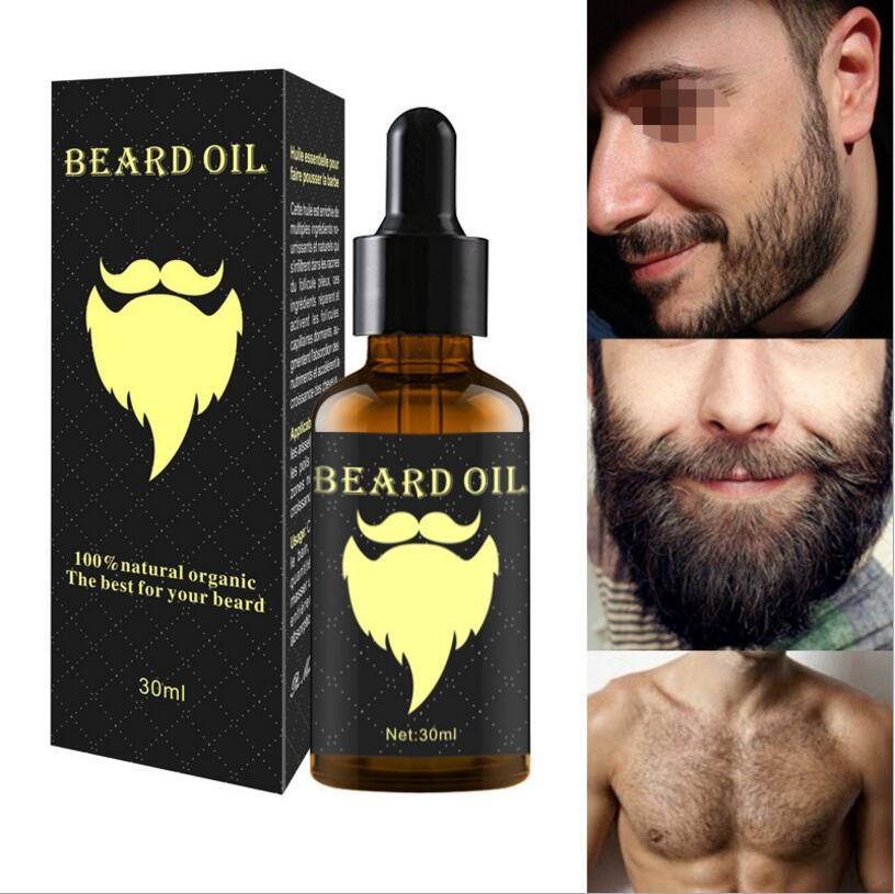 10 pcs Beard Oil Beard Growth Liquid Men's hair growth essential oil Gentle repair hair follicle growth 30ml гель cristaline stop hair growth 10 мл