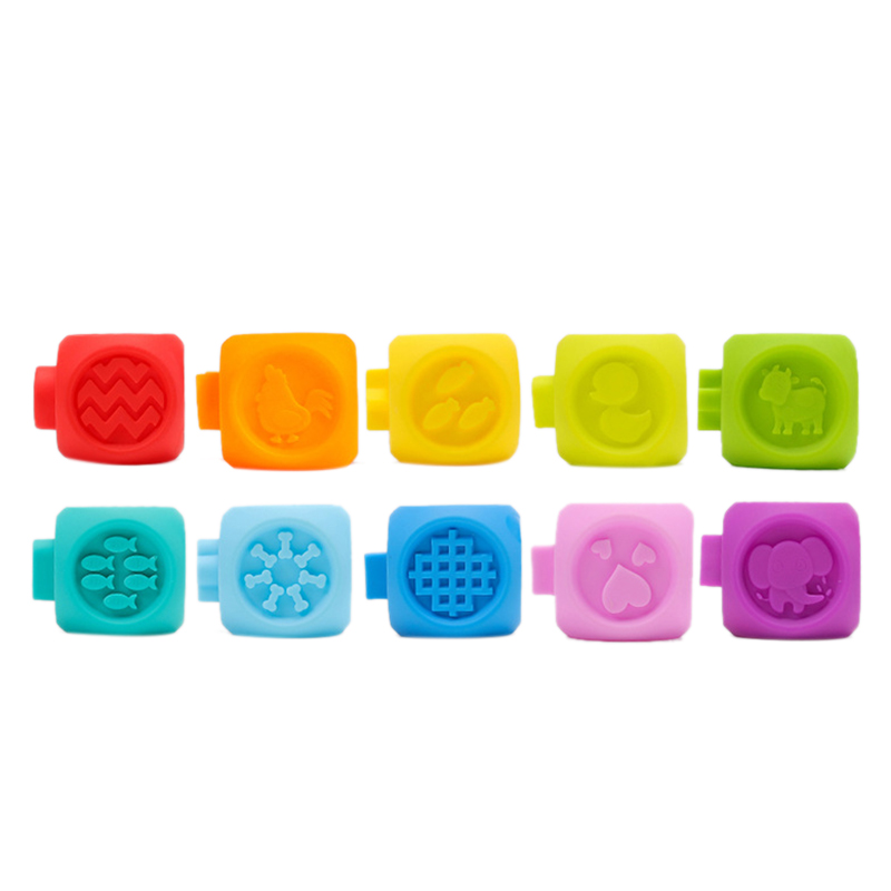 Baby Catching Toys Baby Soft Rubber Embossed Blocks Teether Squeeze Toys Bath Ball Toys 6 12 Months Can Bite Early Education E in Blocks from Toys Hobbies