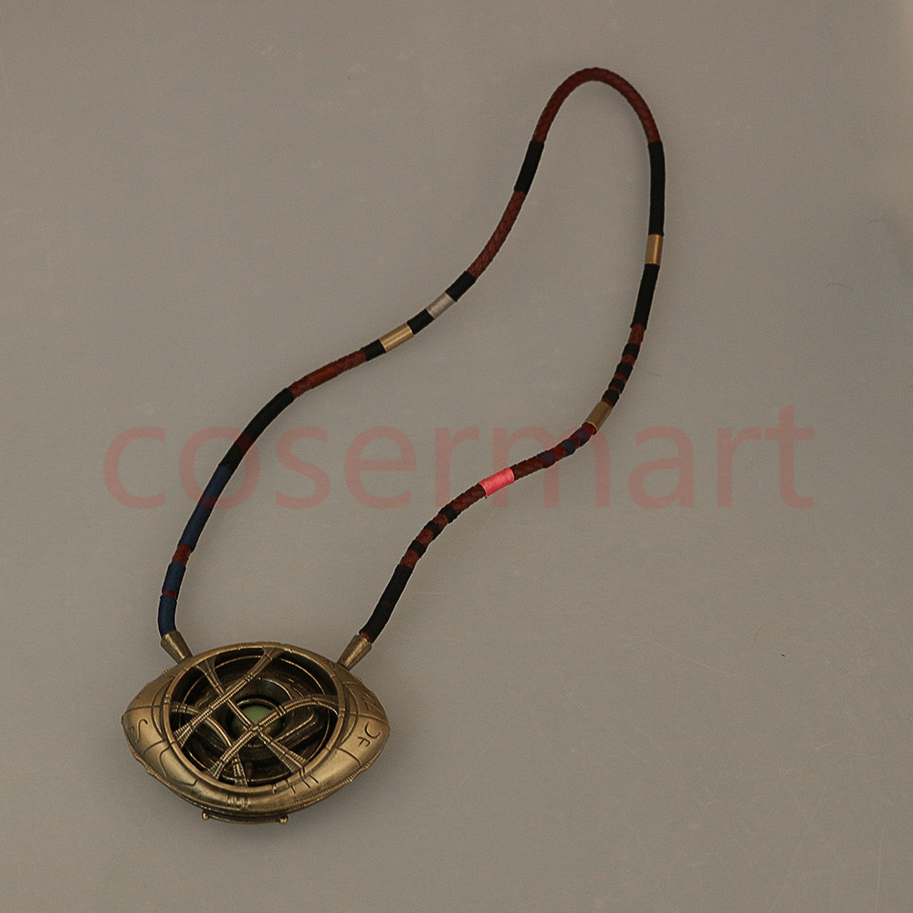 Doctor Strange Necklace Eye of Agamotto Necklace Eyes Can Open Cosplay Props New (6)