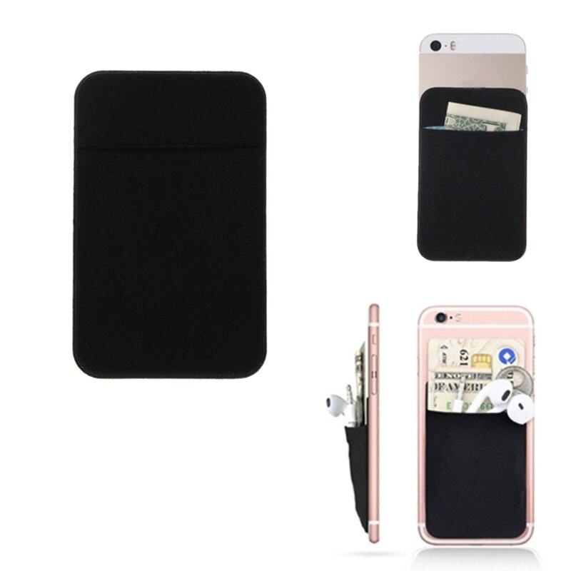 Thinkthendo новый мобильный телефон кредитных карт бумажника держатель Карманный stick-на клей эластичный инструмент ультра-тонкий самоклеющиеся ...