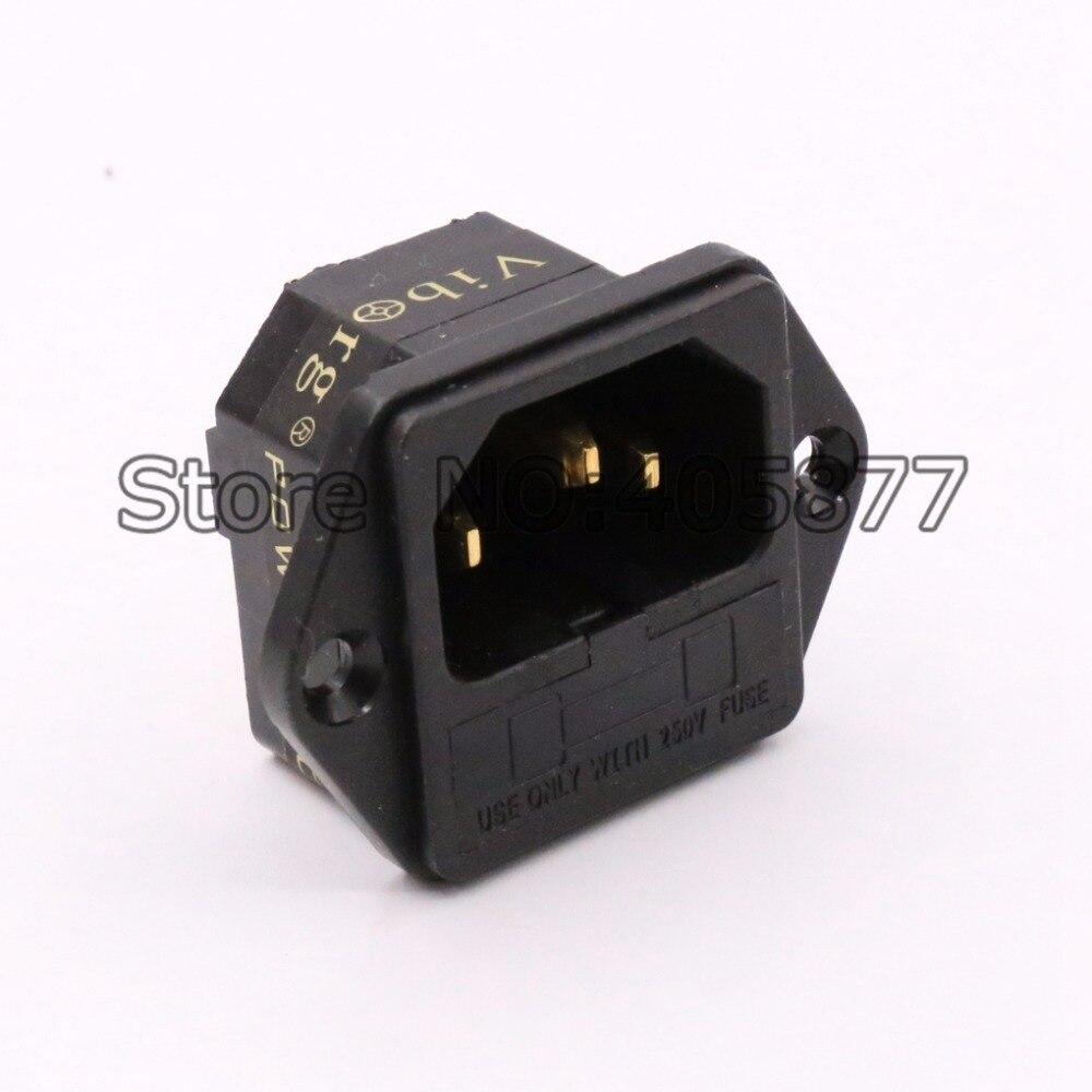 FI-03G 24K Gold Plated IEC AC Inlet IEC input socket with Solder