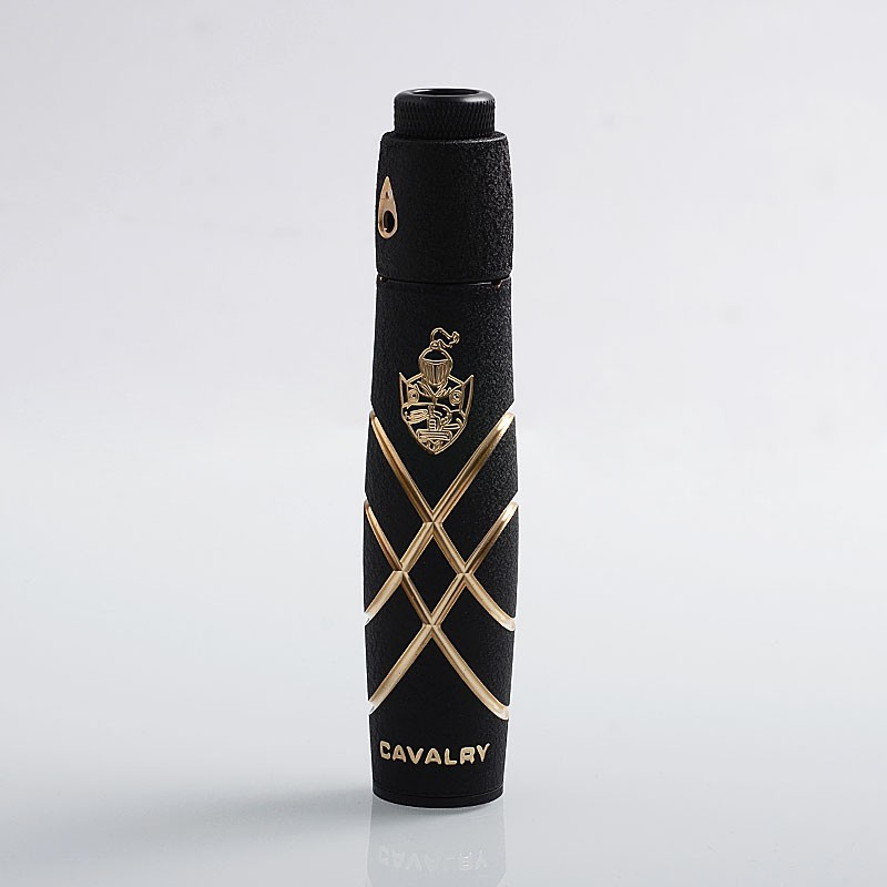 Original Serisvape Cavalry V2 Brass 18650 Mechanical Mod + Stainless Steel Single Coil RDA Atomizer Vape Kit