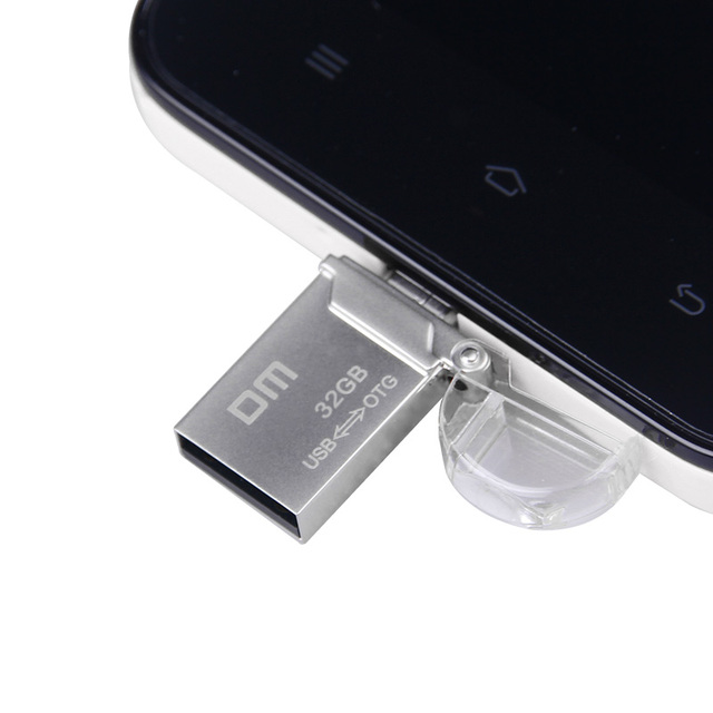 DM PD008 OTG USB 100% 32G 16G 64G USB Flash Drives Smartphone Pen Drive Micro USB Portable Storage Memory Metal USB Stick Free 8