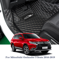 Car Styling Car Floor Mats For Mitsubishi Outlander 2016 2019 5Seats LHD Leather Auto Foot Pad Cover Internal Accessories