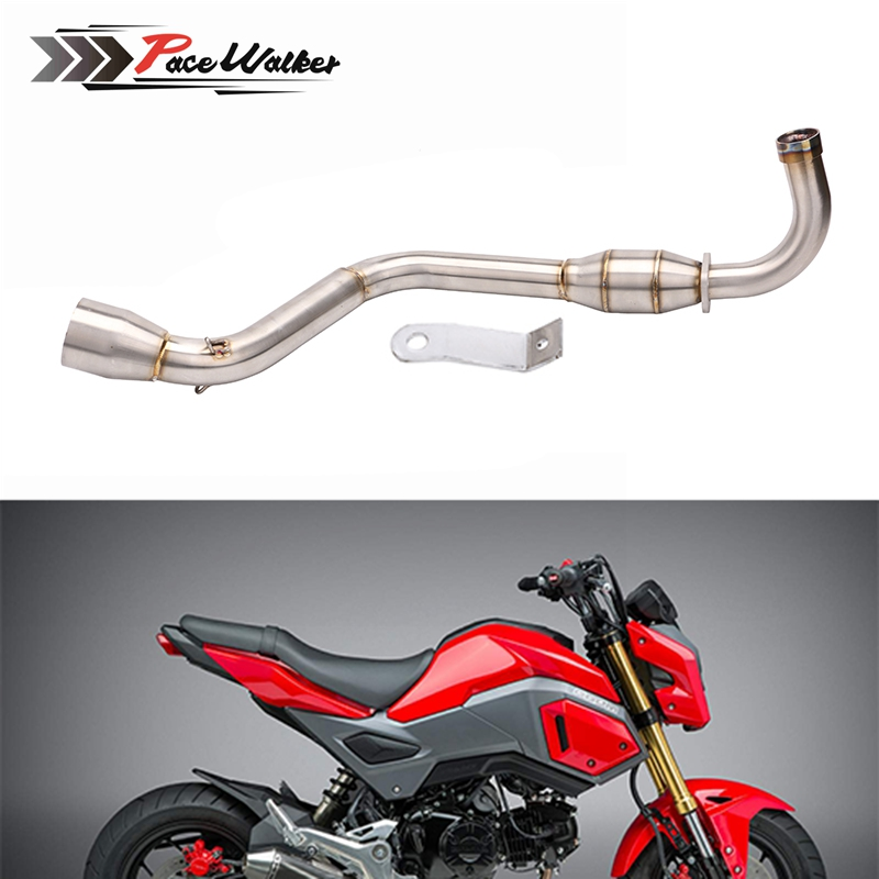 Motorcycle-Parts Exhaust-System Stainless-Steel Msx-125 Honda Grom Middle-Tube