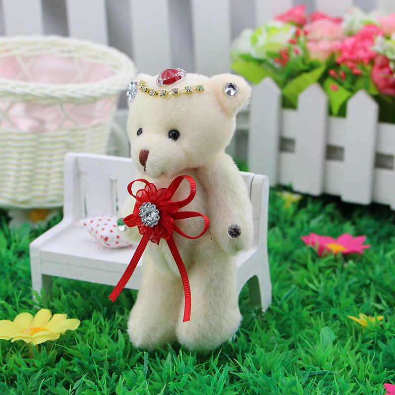 12 pcs mini articulado urso de pelúcia bonecas brinquedos de pelúcia pequeno pingente de Decoração Home Brinquedos de natal dia Dos Namorados Do Casamento Do Design presente