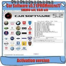برنامج السيارات V5.2 EPROMmicro77 تفعيل كارسوفتوير 5.2 (Immo Off ، EGR Off وأداة إصلاح البدء الساخن)
