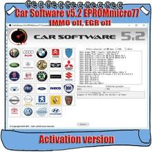 รถซอฟต์แวร์ V5.2 EPROMmicro77 การเปิดใช้งาน CarSoftware 5.2 (Immo Off, EGR และ Hot Start Fix Tool)
