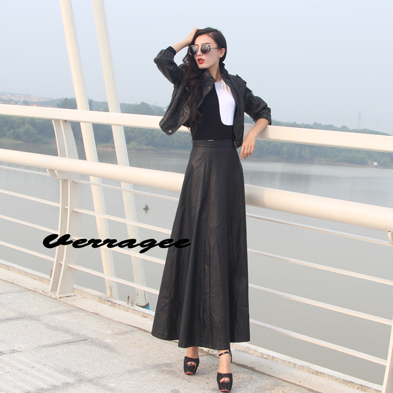 Popular Full Length Leather Skirt-Buy Cheap Full Length Leather ...