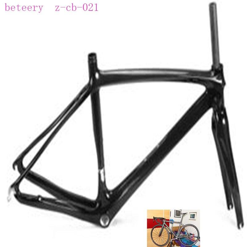 Beteery magasin vélo de route en carbone 700 * 23c cadre de route en carbone Z-CB-021 cadre en carbone inclus fourche en carbone à vendre