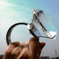 Promotion Sale Wedding Props Crystal Diamond Ring For Wedding Decorations