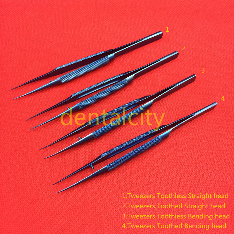 12.5cm/14cm Titanium Microsurgical Ophthalmic Surgical Instruments Scissors+Needle Holders +Tweezers Dental Instruments