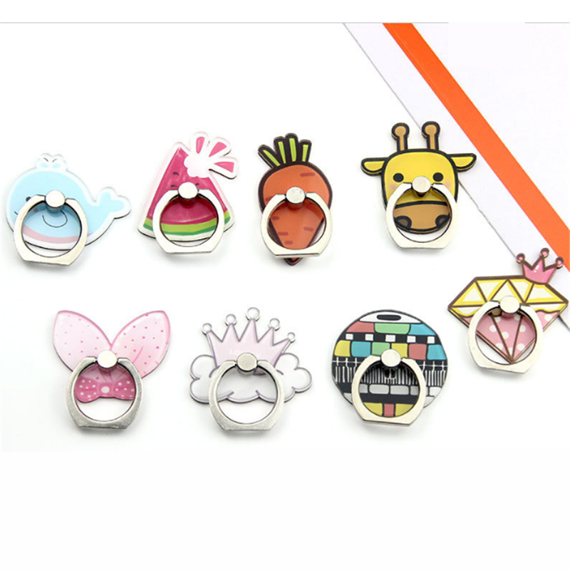 360 Degree Bow Watermelon Crown Finger Ring Smartphone Stand Holder Mobile Phone Holder Stand For Iphone 8 X 6 7 Huawei P20 Lite