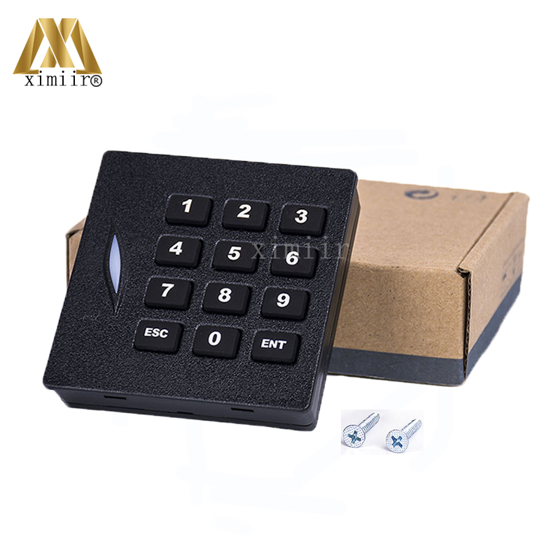 KR102M 13.56MHZ MF Card Reader With Keypad For Access Control System Access Control Keypad IP65 Waterproof Weigand34 Card Reader contact card reader with pinpad numeric keypad for financial sector counters