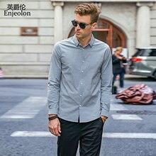 Enjeolon ماركة الخريف Camisa الذكور القطن قمصان الرجال الصلبة قمصان الذكور 3XL بلوزة طويلة الأكمام قمصان للرجال CX2517 1