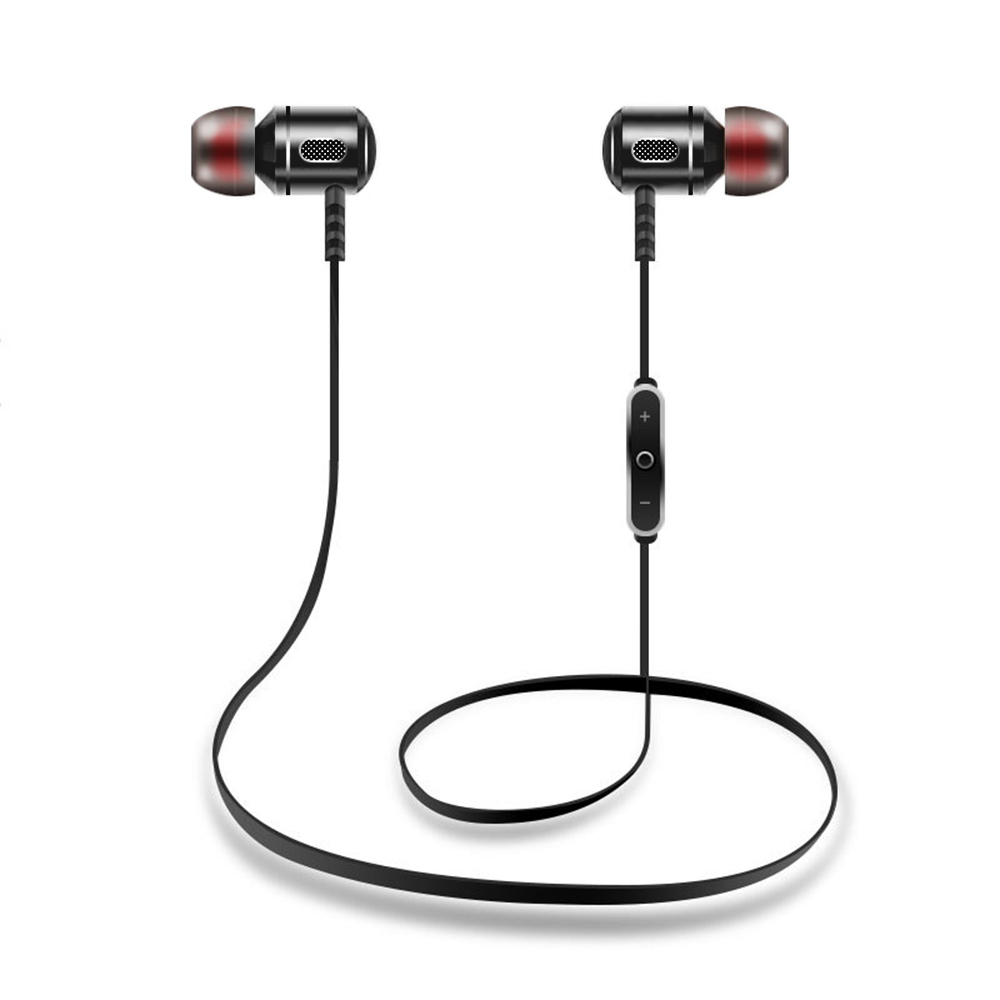 Sport Earphones Wireless Bluetooth In-Ear 4.1 Noise Cancelling Headset Hifi Stereo Mp3 Music Player Metal Earplugs onn w6 bluetooth hifi music mp3 player 8g storage with earphones