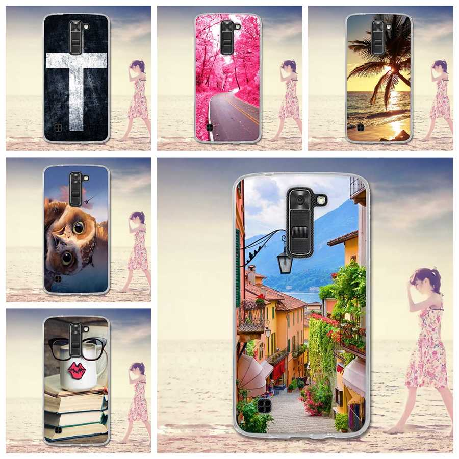 Case For LG K7 X210 X210DS MS330 Tribute 5 K7 Dual SIM M1 TPU 3D Relief Printing Silicone Case Cover LS675 Q7 5.0 Inch Cases