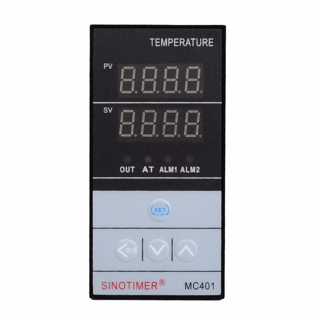 SINOTIMER MC401 Short Shell Input PID Temperature Controller Thermostat Temperature Regulator SSR Relay Output Heat Cool Alarm