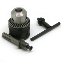 Drill Chuck 1 5 13mm Capacity To 1 2 20UNF Thread W Key SDS Plus Adapter