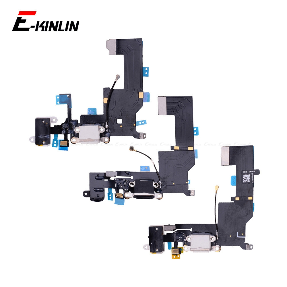 Charger Charging Port Dock <font><b>Connector</b></font> Flex Cable For <font><b>iPhone</b></font> 4 4S 5 <font><b>5S</b></font> 5C SE With HeadPhone Audio Jack RePlacement Parts image