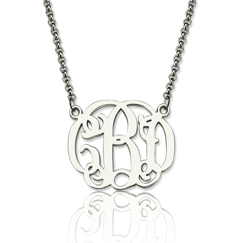 Personalized 925 Sterling Silver Monogram Pendant Necklace DIY Name Necklace Customize Name Fine Jewelry (NE101373) 925 sterling silver jewelry to create personalized evil sheep silver vintage pendant pendant necklace