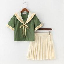Uhyd Лолита платье моряка зеленый Японский Корейский студентов Школьная форма аниме костюмы для девочек подростков хор Болельщицы униформа