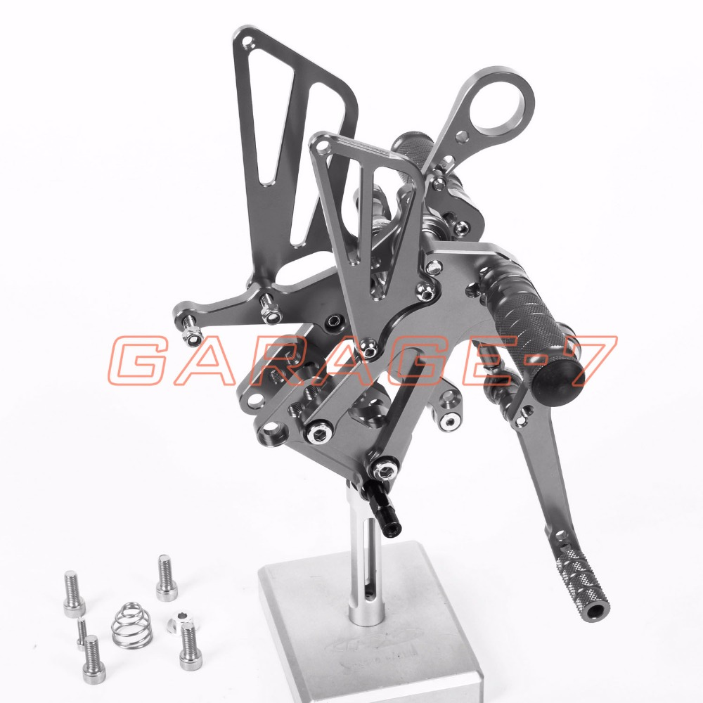 CNC Motorcycle Parts Rearsets Foot Pegs Rear Set For BMW  S1000RR 2012-2014 Titanium Color