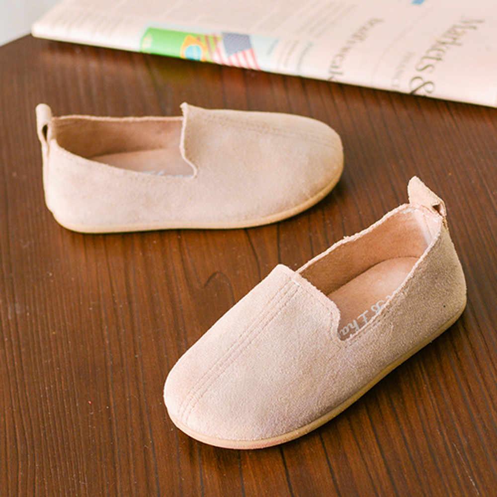 2019 kinder Schuhe Für Mädchen Turnschuhe Flache Schuhe der Einzelnen Schuhe Candy Farbe Weichen Frühjahr Tanz kinder schuhe chaussure fille enfant