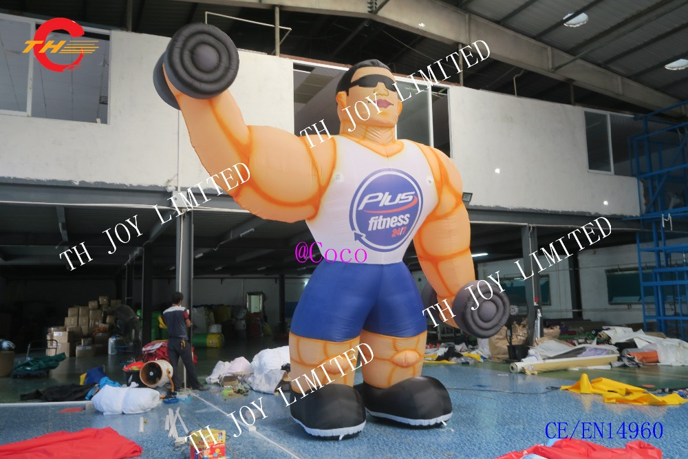 13ft Inflatable Fitness Muscle Man Sport Outdoor Advertising With Air Blower