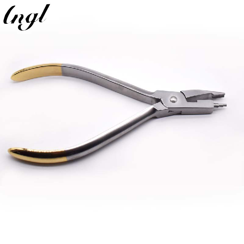 Dental Orthodontic Half-moon Trapezoidal Pliers Dental Tools Ortho Dental Young Loop Bending Plier Trapezoidal Tip Making 1 piece nance loop bending pliers for making vertical loops of different height along arch wires