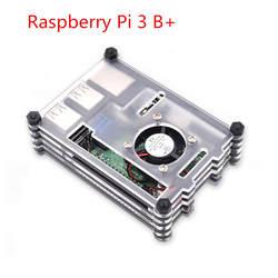 Raspberry Pi Дело 9 слоев акрилового корпус с охлаждающим вентилятором для Raspberry Pi 3 Модель B + (без Малина pi доска)