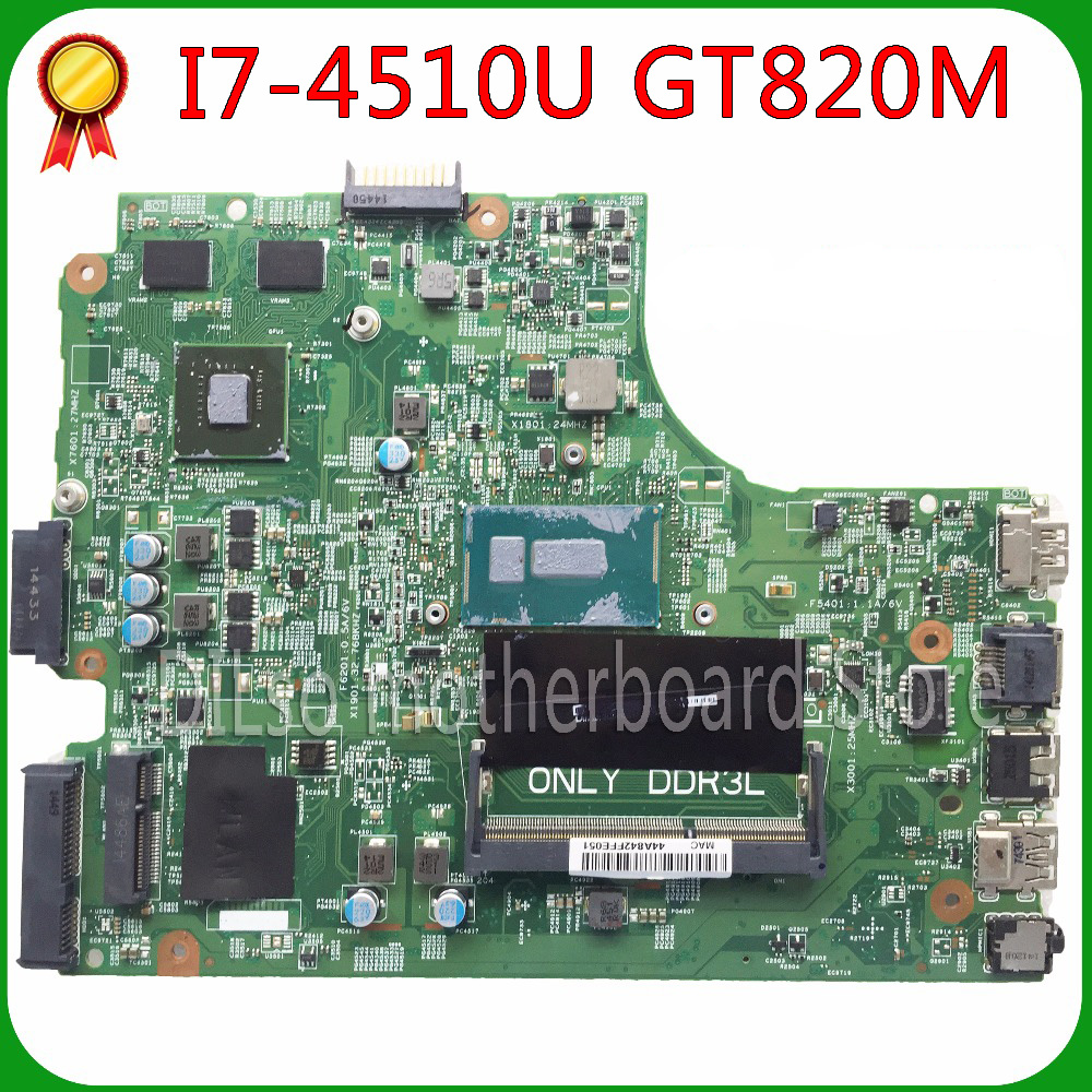KEFU For DELL 3542 Insprion 15-3542 DELL 3442 3543 3443 5749 Motherboard 13269-1 PWB FX3MC REV A00 Motherboard I7-4510u
