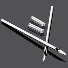10Pcs Professional Surgical Steel I.V Catheter Piercing Needles Sterilized Body Tattoo Needles 14G16G18G20G Supply Body Jewelry