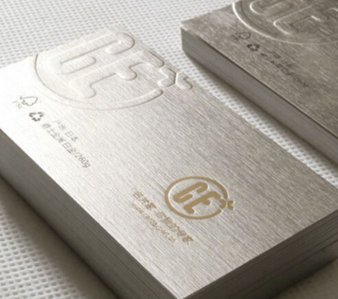 High quality Engraved Stainless steel business card metal card printing name cards matte finishing