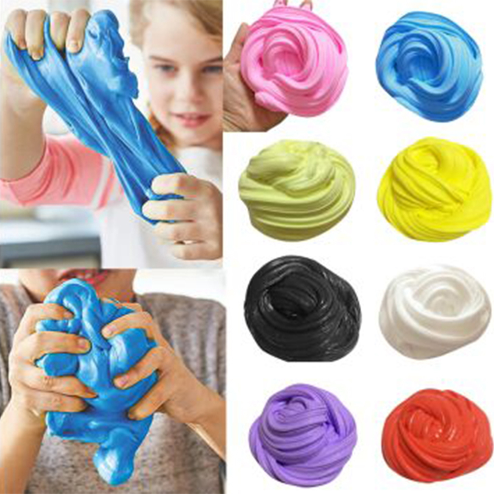 DIY Fluffy Slime Floam Slime lõhnav stressi leevendamise mänguasi lastele muda mänguasja puuvillane mudakujundus polümeeri savi plastiliin mänguasi kingitus